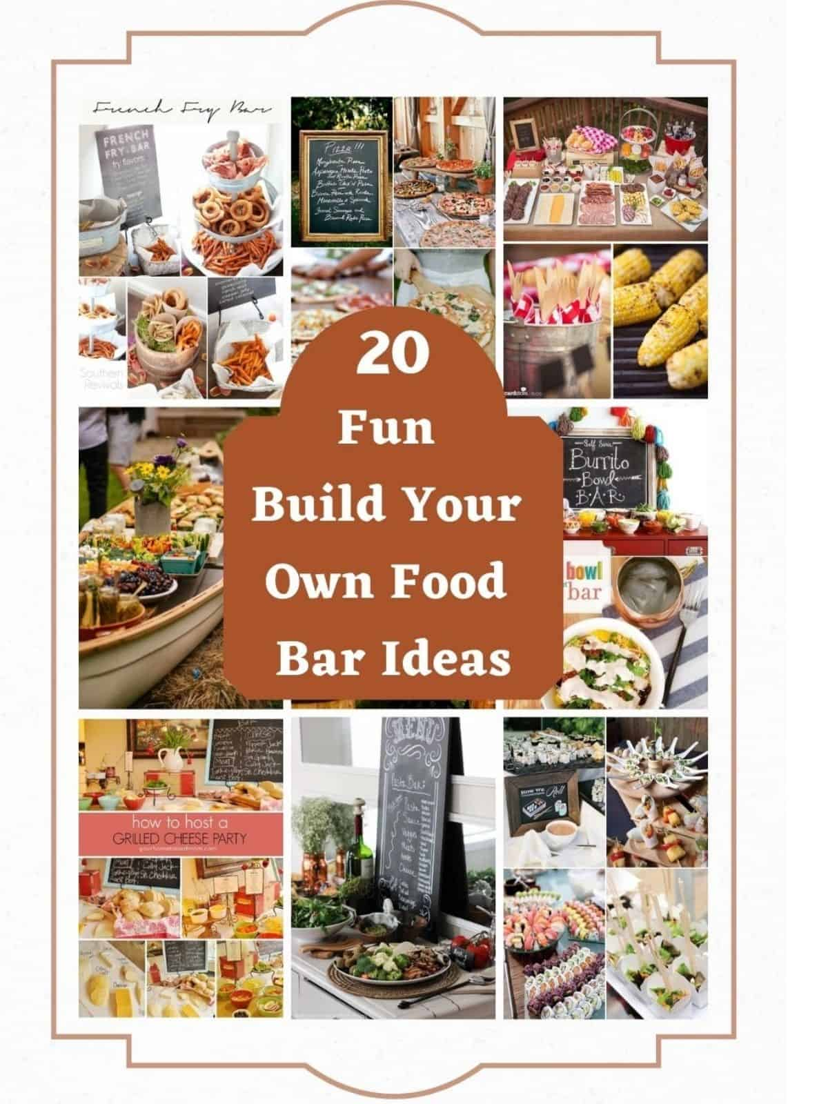 food bar menu ideas with pictures of food