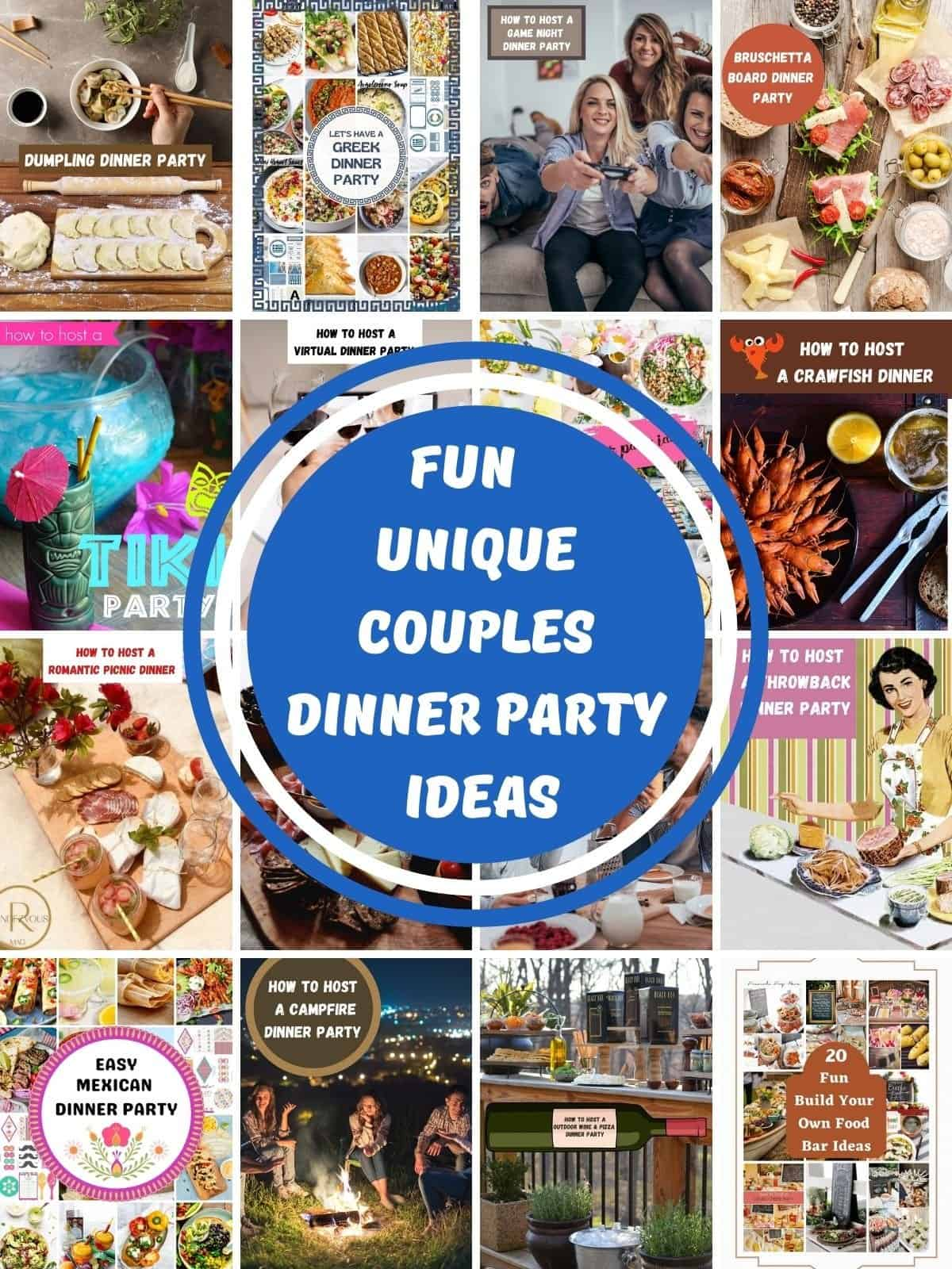 pictures of Fun & Unique Couples Dinner Party Ideas & Themes