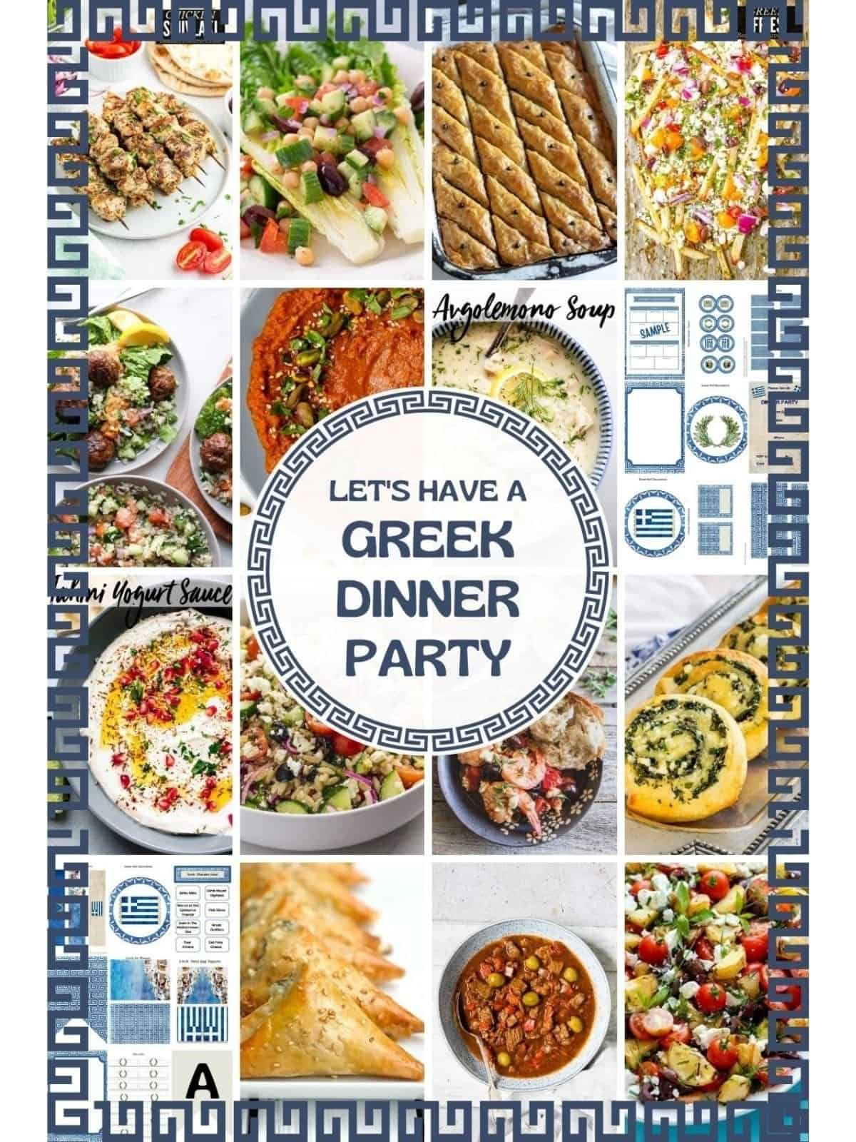 greek dinner party food ideas and decorations