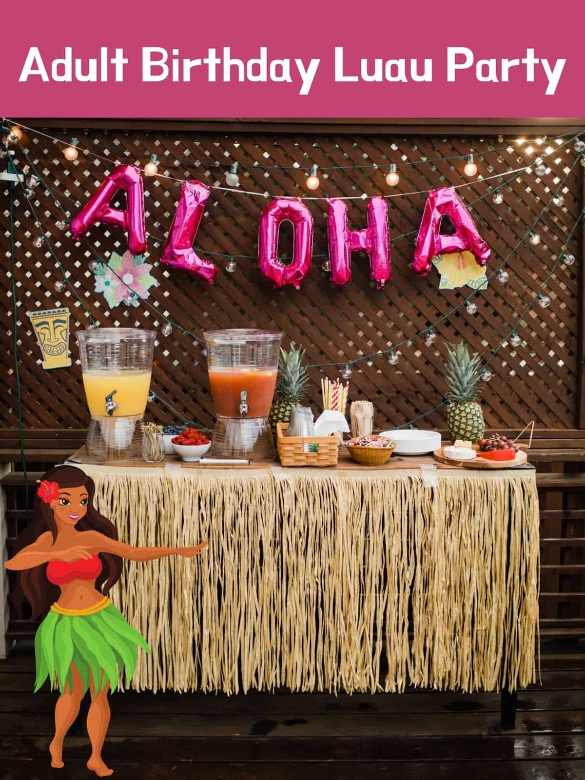 punch table with aloha over it