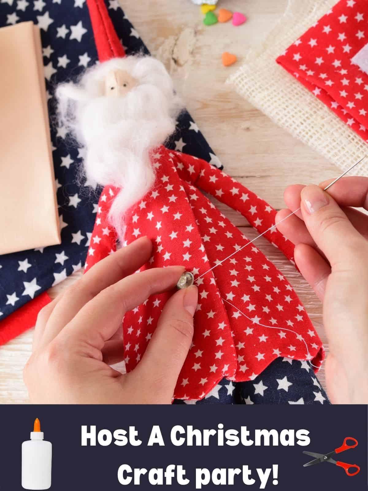 making a christmas craft santa