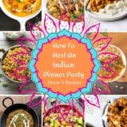 indian dinner party food