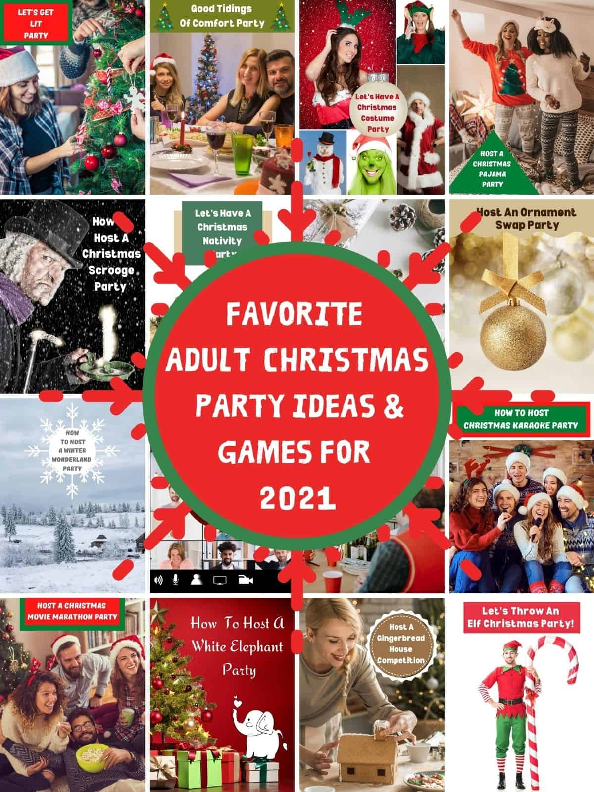 Favorite Adult Christmas Party Ideas & Games For 2021
