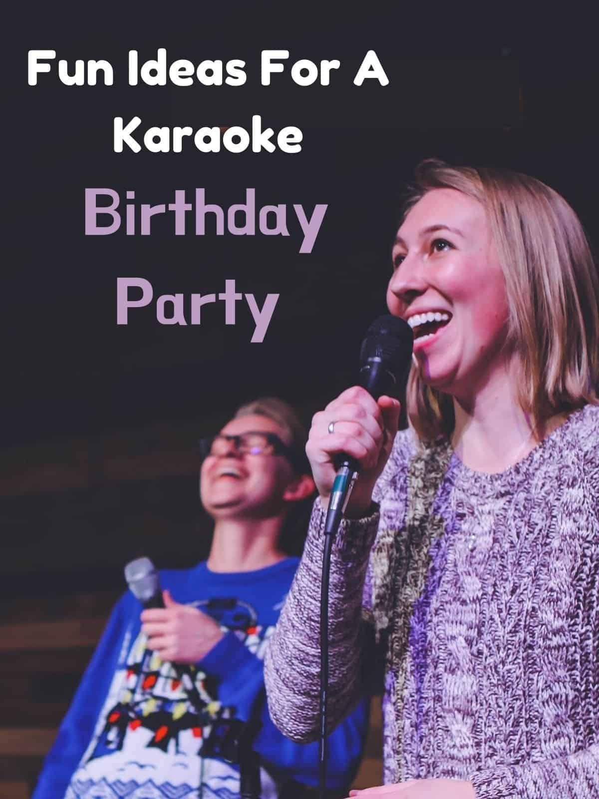 lady signing karaoke