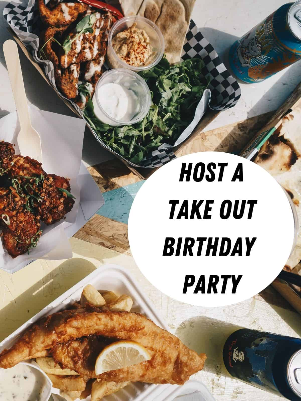take out food for a party