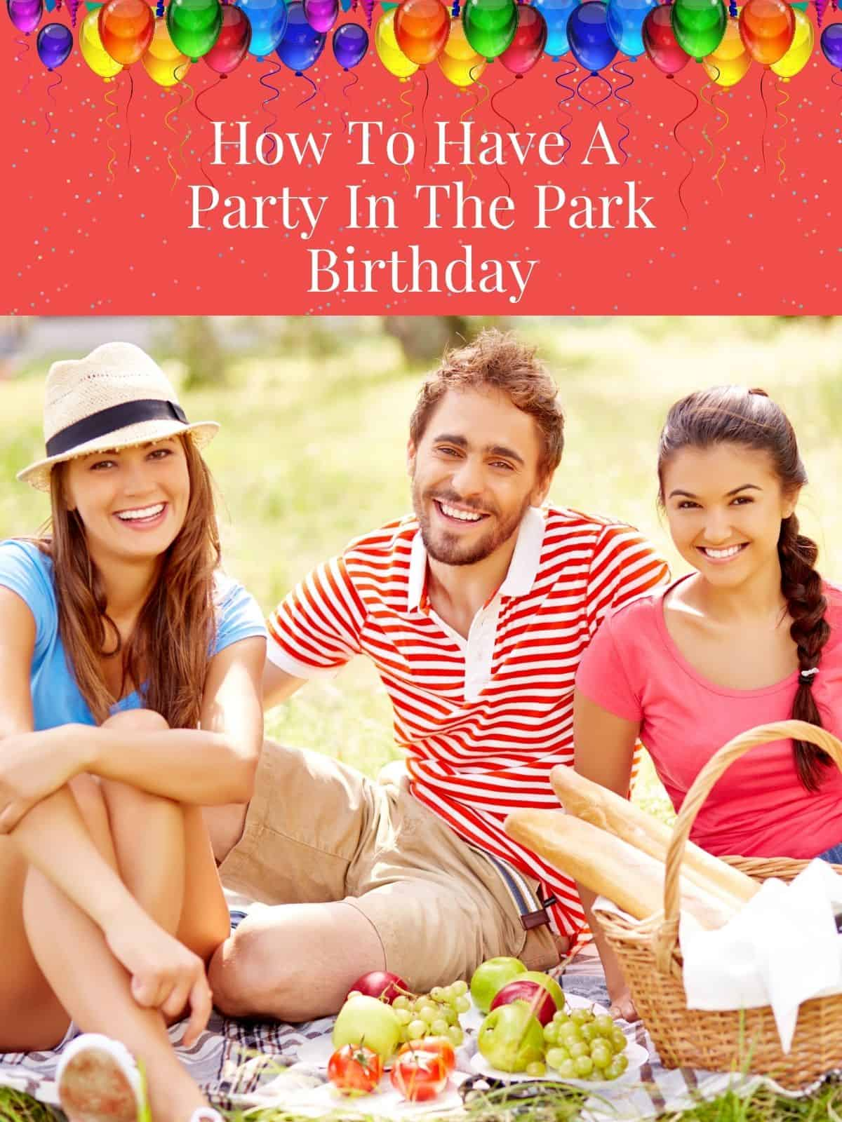 people at a birthday party picnic