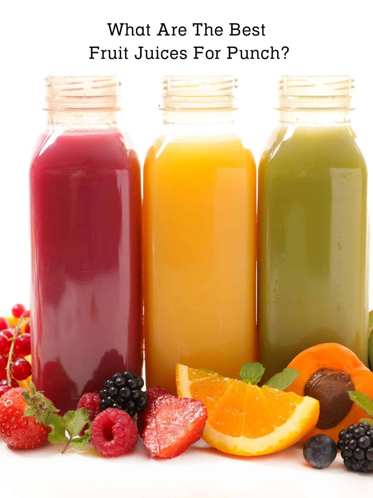 juice bottles for punch recipes