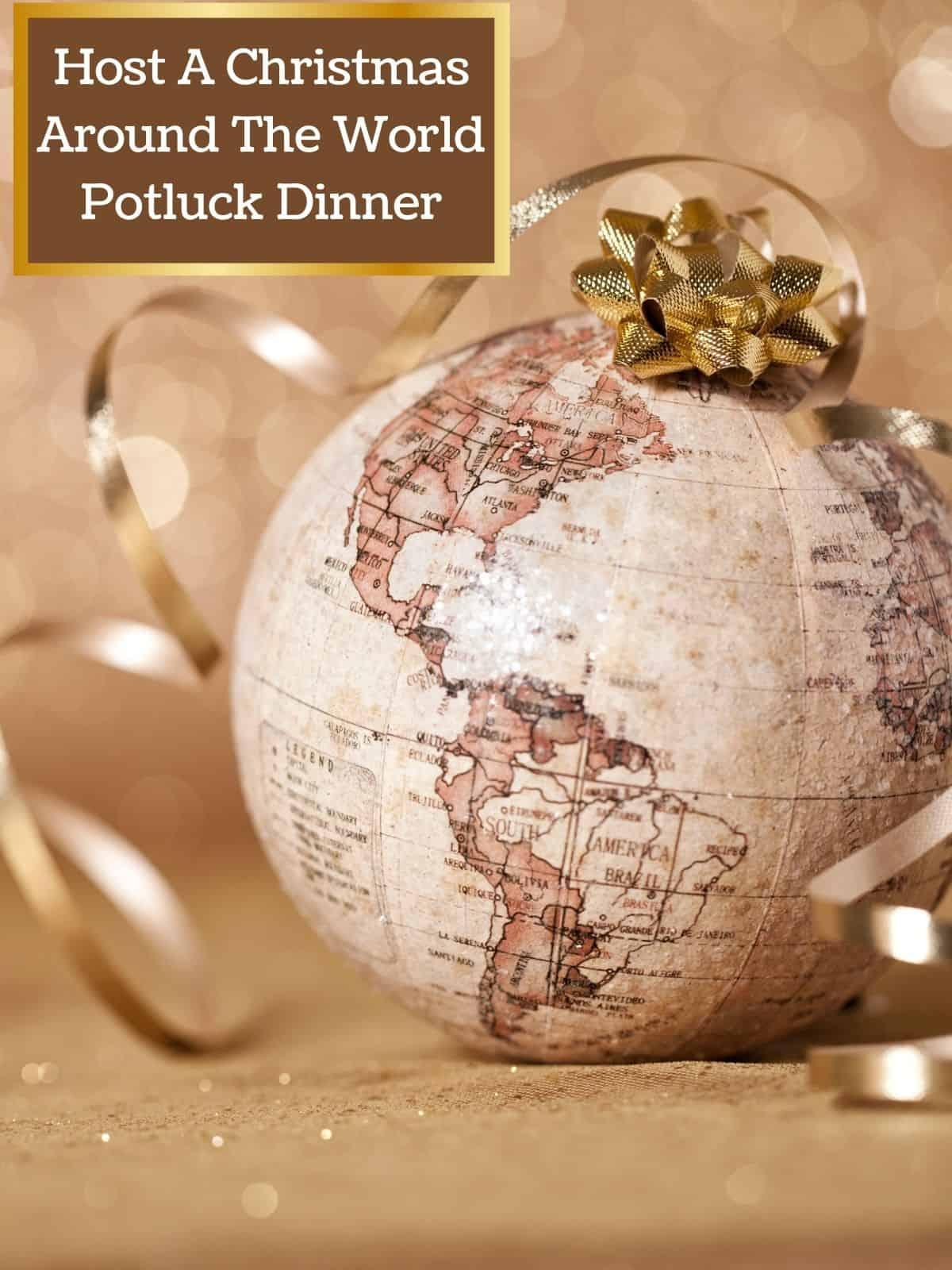 globe christmas ball