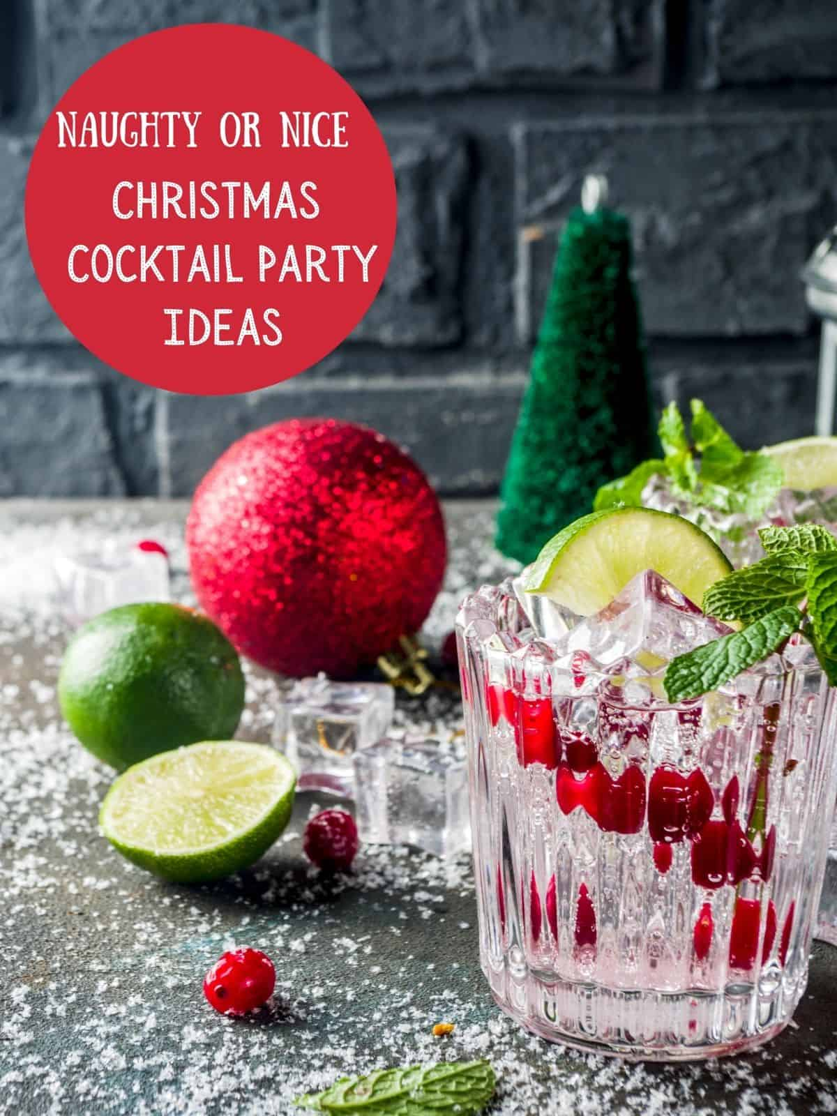 cocktail and christmas ball