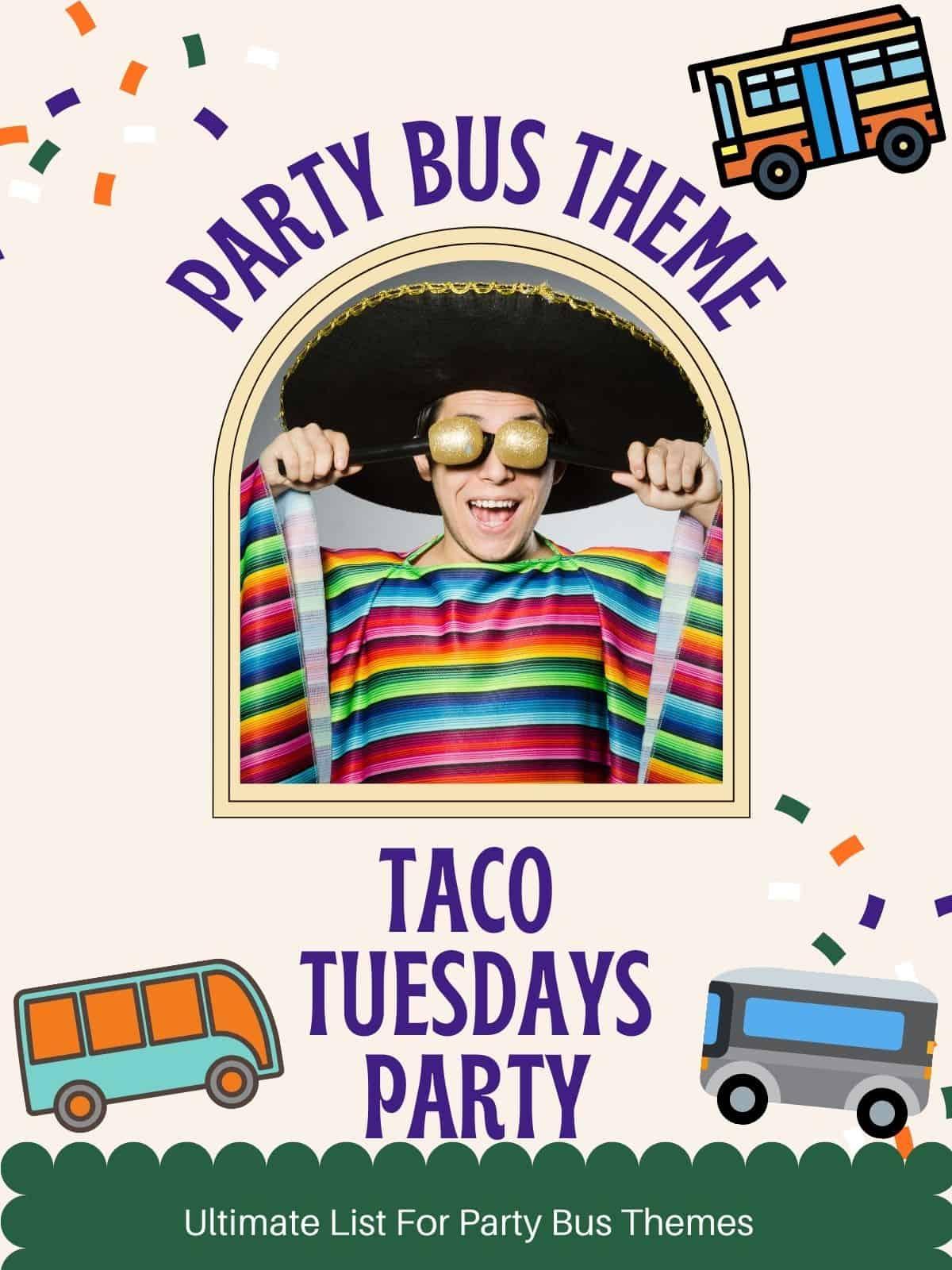 Guy in sombrero celebrating taco tues